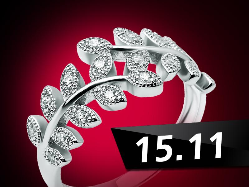 Черная пятница 15 ноября – до 50% скидки на серебряные кольца и серьги