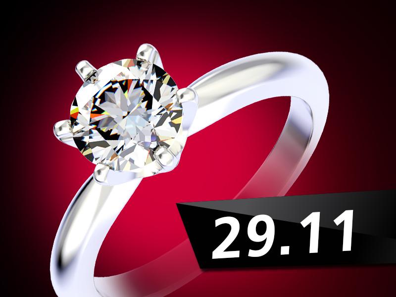 Последняя Черная Пятница от «Благо» – украшения с бриллиантами со скидкой до -50%